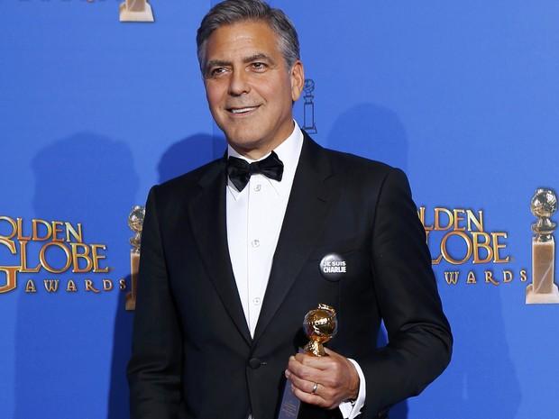 George Clooney recebe o prêmio Cecil B. DeMille no 72º Globo de Ouro. (Foto: REUTERS/Mike Blake)
