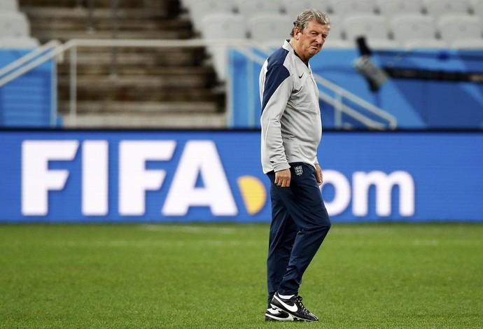 Roy Hodgson treino Inglaterra em São Paulo (Foto: Reuters)