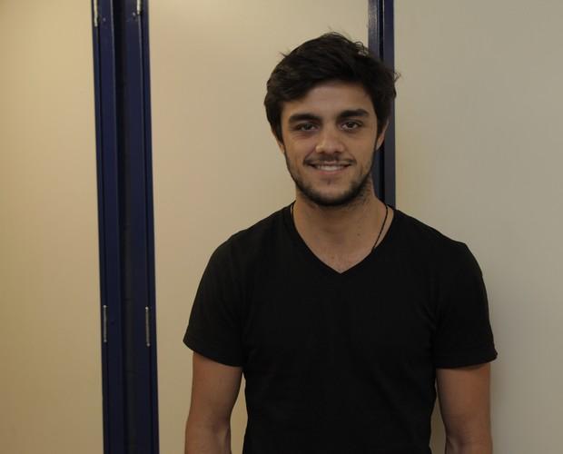 Felipe Simas nos bastidores do SuperStar (Foto: Fabiano Battaglin/Gshow)