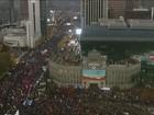 Milhares protestam contra presidente da Coreia do Sul