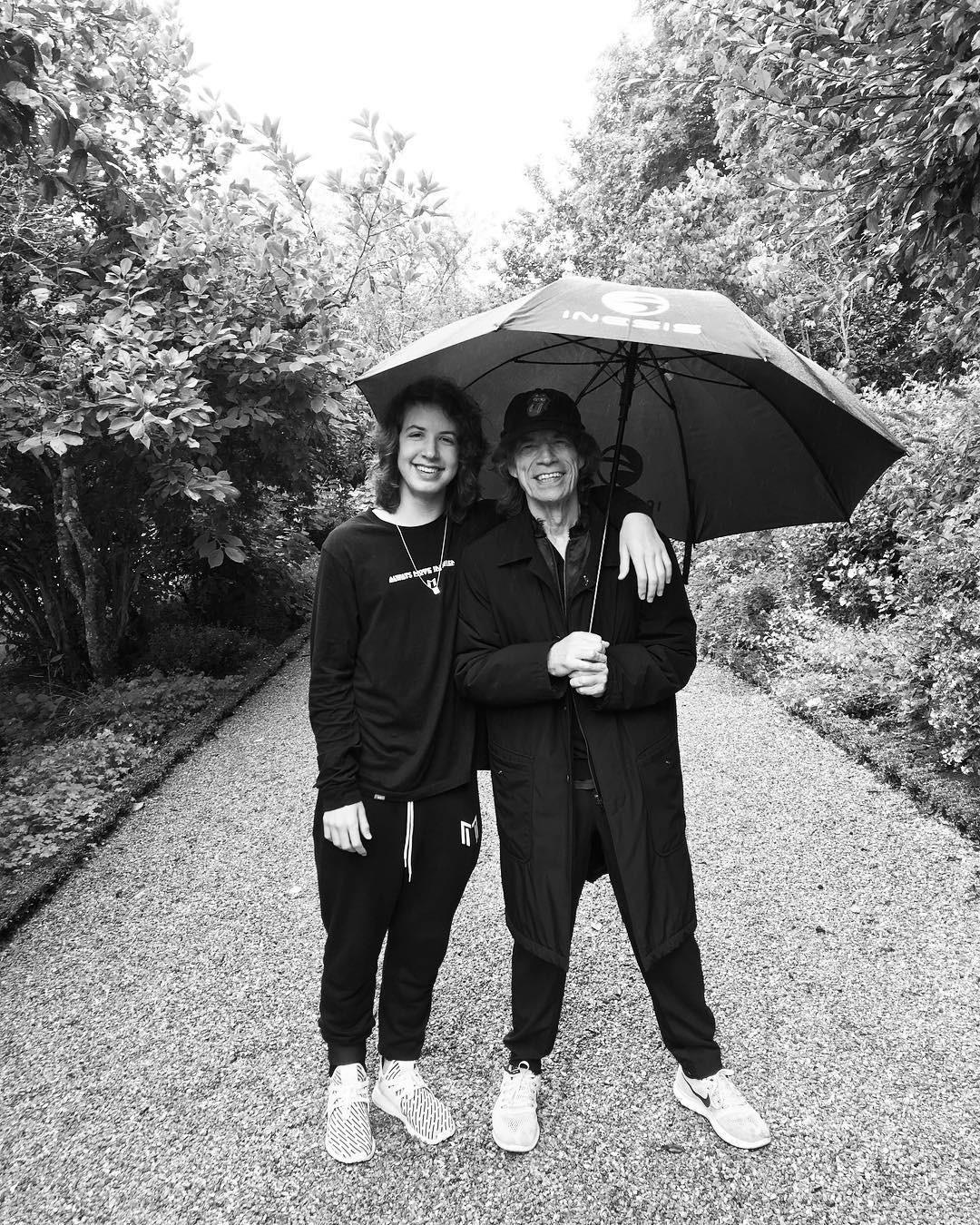 Lucas e Mick Jagger (Foto: Reprodução/Instagram)