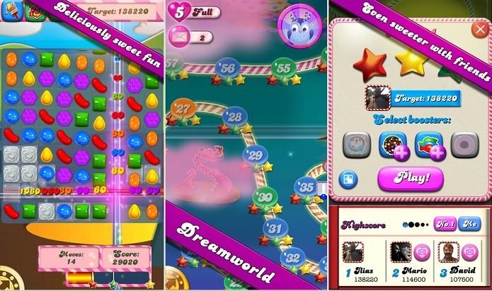Candy Crush Saga faz iPhone consumir bateria até 3,2 vezes mais rápido (Foto: Divulgação)