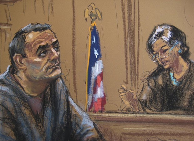 Sabirhan Hasanoff durante seu sentenciamento nesta segunda-feira (30) (Foto: Reuters)