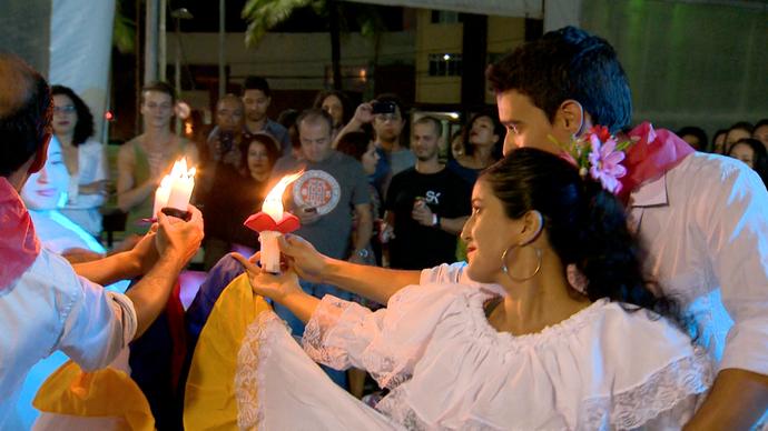 A Cúmbia é ritmo típico da Colômbia  (Foto: Divulgação / TV Gazeta ES)