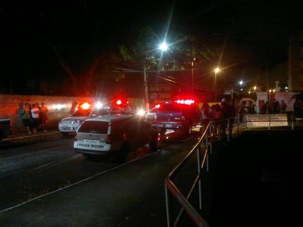 Base da PM de São José foi alvo de tiros (Foto: Fernando Diel/Divulgação)