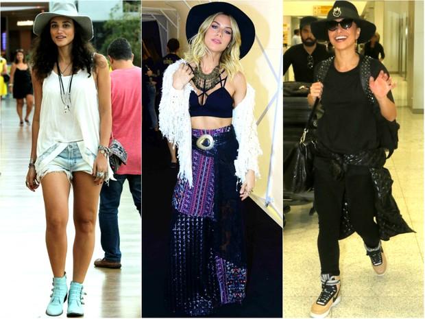 EGO - Famosas usam chapéus em looks no dia a dia  confira opções ... 74fad30deac