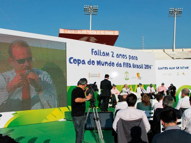 Evento reuniu autoridades para falar da Copa no Rio Grande do Sul (Foto: Diego Guichard/G1)