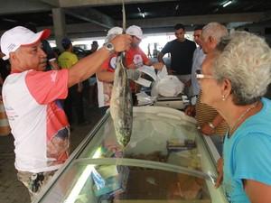 Segundo a pesquisa do Dieese, 10 pescados apresentaram recuo dos preços na Grande Belém (Foto: Carlos Borges/O Liberal)