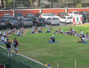 Grupo do Fluminense nas Laranjeiras (Foto: Rafael Cavalieri)