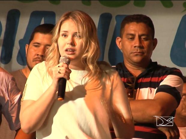 Prefeita de Bom Jardim Lidiane Leite (PP) (Foto: Reprodução / TV Mirante)