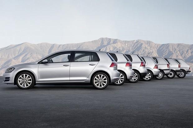 As sete geraçoes do Volkswagen Golf (Foto: Divulgação)