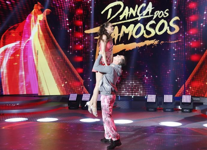 Agatha Moreira capricha com o bailarino Leandro Azevedo (Foto: Ellen Soares/Gshow)