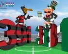 Clubes têm divergência sobre números (arte esporte / Cláudio Roberto)