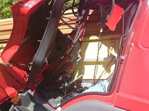 Acidente entre dois caminhões na BR-153, em Alvorada (Foto: Divulgação/PRF)