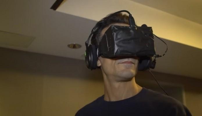 Protótipo do Rift apresentado na GamesCom 2013 (Foto: Reprodução/YouTube)