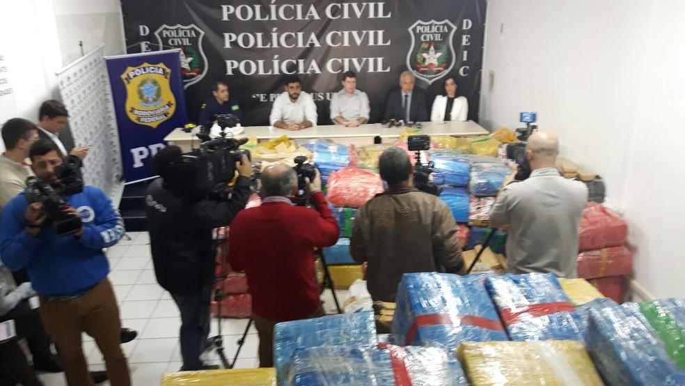 Material foi apresentado pela Polícia CIvil e PRF nesta terça (6) (Foto: PRF/Divulgação)
