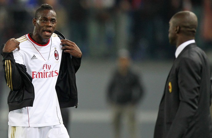 Balotelli discute com Seedorf, Roma x Milan (Foto: Getty Images)