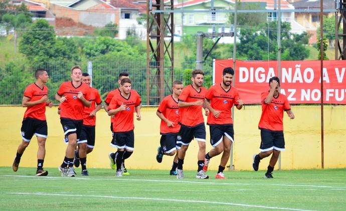 Bragantino treino (Foto: Danilo Sardinha/GloboEsporte.com)