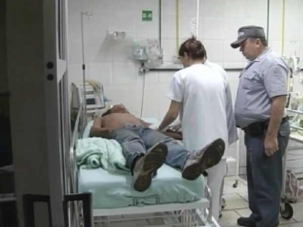 Homem de 30 anos disse que acordou com o corpo em chamas (Foto: Reprodução/TV TEM)
