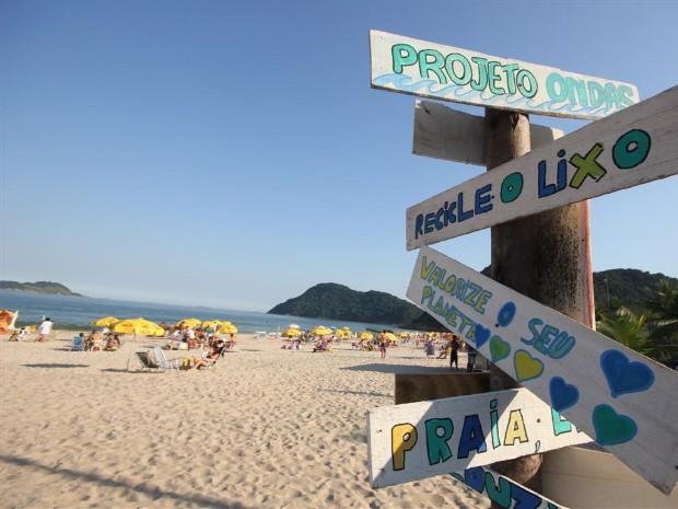 Praia do Tombo, em Guarujá, receberá mutirão de limpeza (Foto: Pedro Rezende/Prefeitura de Guarujá)