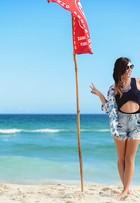 Filha do ator Luigi Baricelli, Rubia mostra como usar shortinhos em looks cheios de estilo no verão