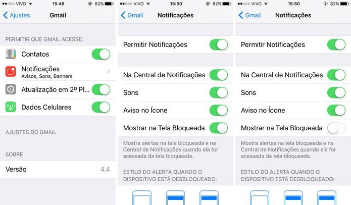No caso das notificações, você terá que fazer isso em cada app (Foto: Reprodução)