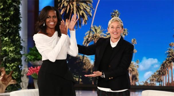 Michelle Obana e Ellen Degenere (Foto: Reprodução)