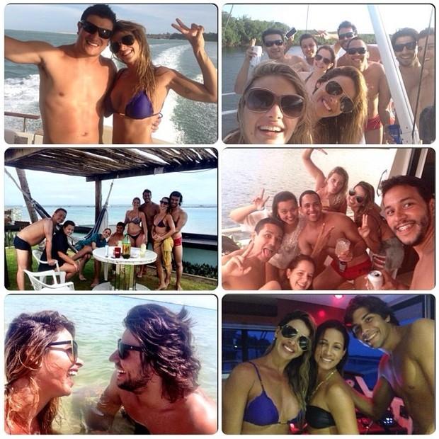 Dany Bananinha com Mariano e outros amigos (Foto: Reprodução/ Instagram)