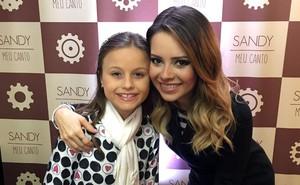 Sandy ficou e Rafa Gomes se encontraram no camarim (Foto: Arquivo pessoal )