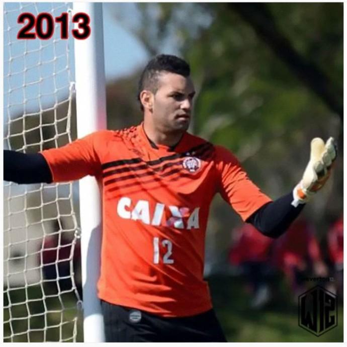 Goleiro Weverton do Atlético-PR 2013 (Foto: Reprodução/Instagram)