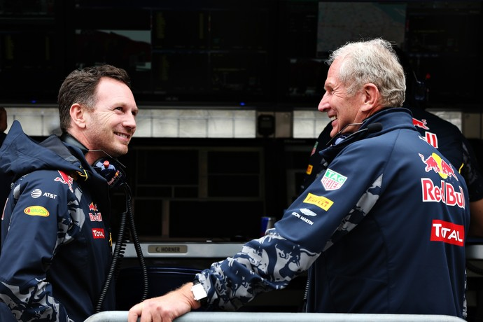 Christian Horner e Helmut Marko no GP da China 2016 (Foto: Getty Images)