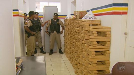 Polícia Militar apreende 617 quilos de maconha em Ilicínea, MG