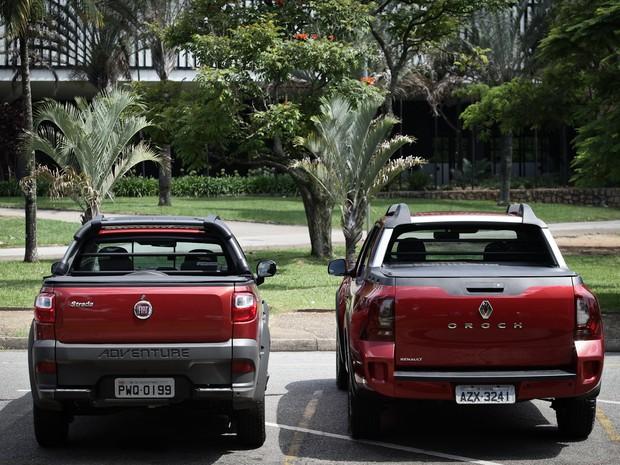 Comparativo: Renault Oroch x Fiat Strada (Foto: Caio Kenji / G1)