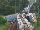 Linha férrea é liberada parcialmente após choque de trens; fotos aéreas
