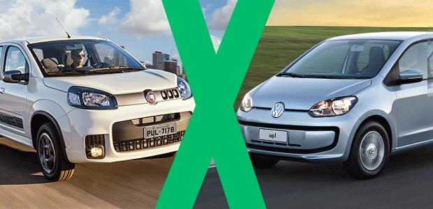 Jogo rápido: Volkswagen up! x Fiat Uno (Foto: Autoesporte)
