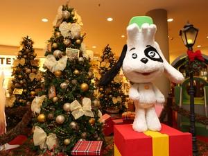 Decoração de natal do Galleria Shopping, em Campinas (SP) (Foto: Tatiana Ferro)