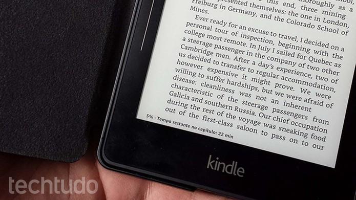 Função, que é útil para mostrar quanto tempo falta para terminar livros e capítulos, pode apresentar estimativas incorretas (Foto: Filipe Garrett/TechTudo)