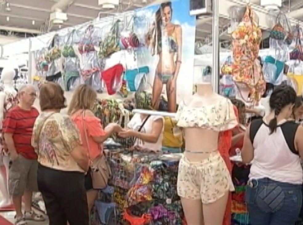 Expo Moda Verão 2017 acontece no Hangar, em Belém, até o dia 10 de julho (Foto: Repordução/TV Liberal)