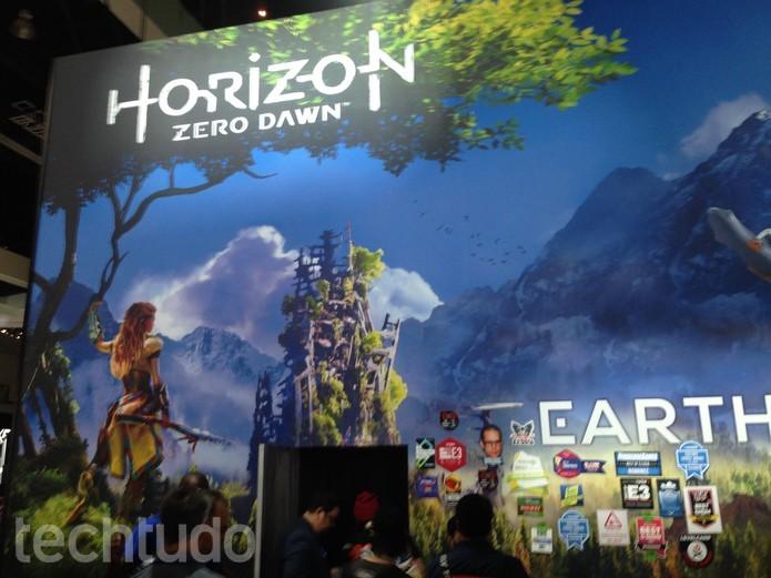 Horizon é um dos jogos mais aguardados do PS4  (Foto: Felipe Vinha/TechTudo)