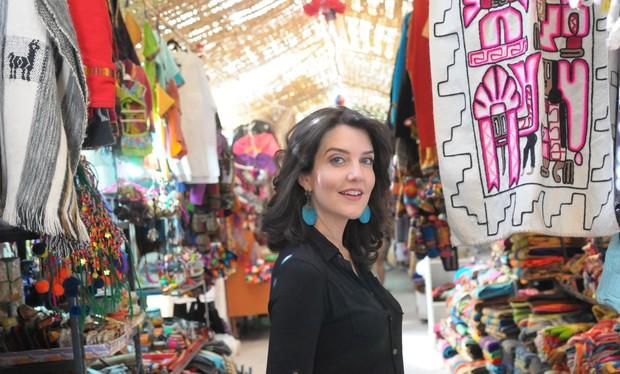 Larissa Maciel curte viagem ao Chile (Foto: Munir Chatack/Record)