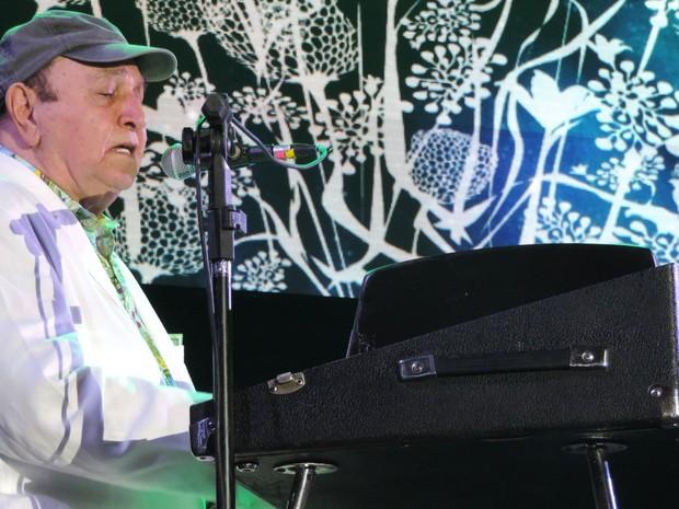 João Donato no palco do Rec-Beat (Foto: Luna Markman / G1)