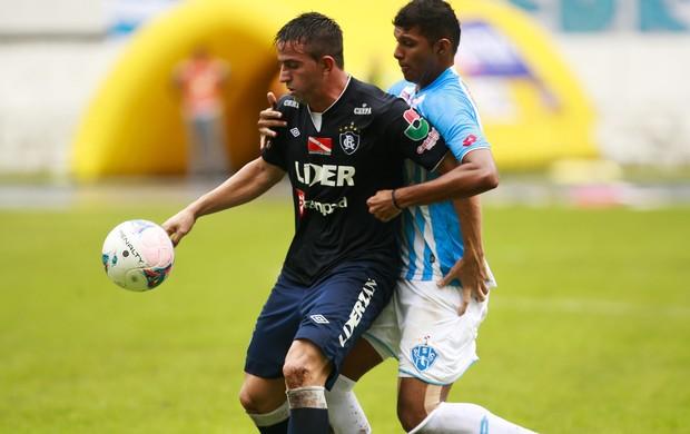 Zagueiro Raul foi um dos destaque para o treinador ao lado de Diego Bispo (Foto: Tarso Sarraf / O Liberal)