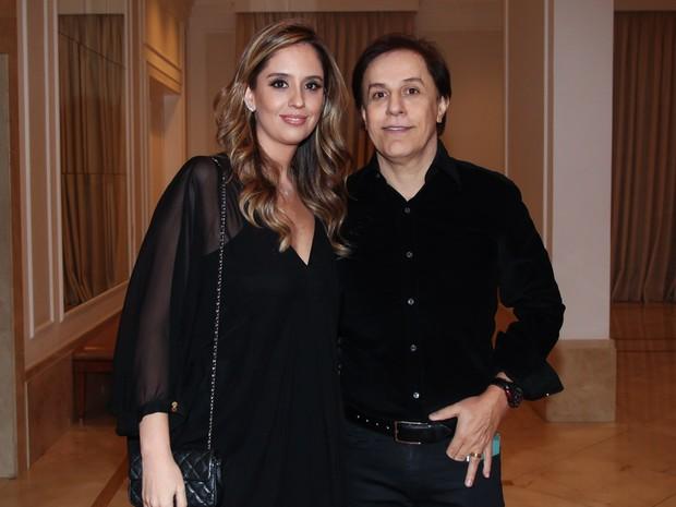 Tom Cavalcante e a mulher em festa em São Paulo (Foto: Manuela Scarpa/ Brazil News)