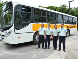 Transporte escolar em Bertioga, SP (Foto: Prefeitura de Bertioga)