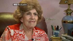 A aposentada Laverne Everett, que comemorou 81 anos saltando de paraquedas (Foto: Reprodução)