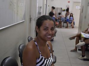 Regiane elogiou o atendimento da médica cubana, no Espírito Santo (Foto: Viviane Machado/ G1)
