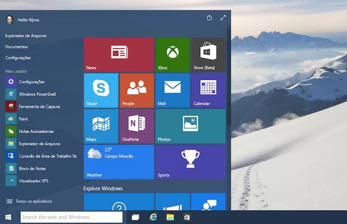Windows 10 vai ganhar atualização em breve (Foto: Reprodução/Helito Bijora)