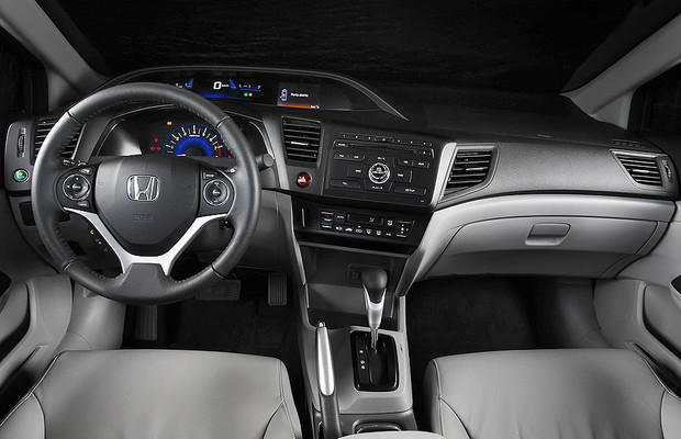 Honda Civic 2015 interior (Foto: Divulgação)