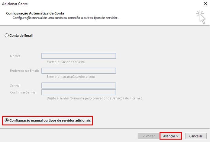 Faça a configuração manual (Foto: Reprodução/Paulo Alves)