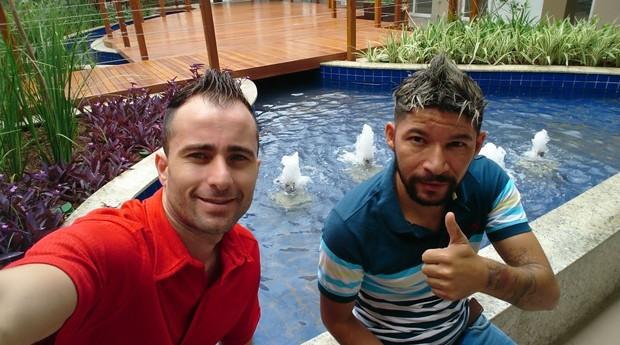 Jeferson Apparício e Claudemir Claudino, fundadores da Sky Jump Brasil (Foto: Divulgação)